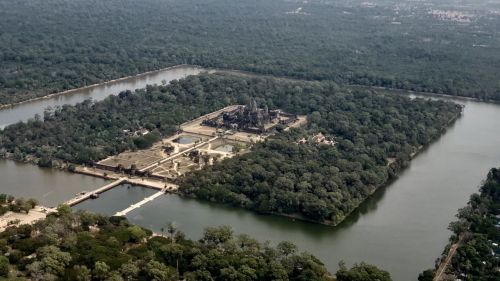 Fly over Angkor Wat