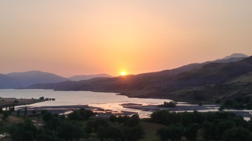Sunset in Taleghan